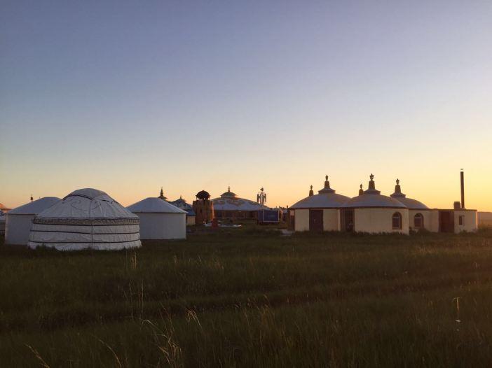 Mongolian Khan City at sunset