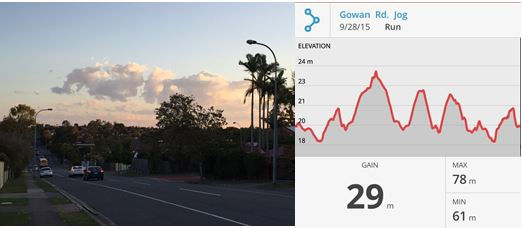Catching a breath after climbing up a hill on Gowan Rd in Runcorn, Brisbane.